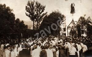 Vysviacka kaplnky v Závodí pravdepodobne na Cyrila a Metoda v roku 1927