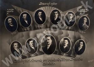 Vedenie Potravného družstva v Závodí v rokoch 1931 - 1932. Zdroj: rodina Ďurčanská