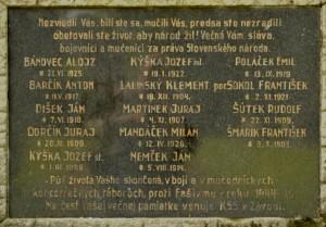 pomník - tabuľa