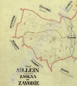 Chotár Závodia 1852